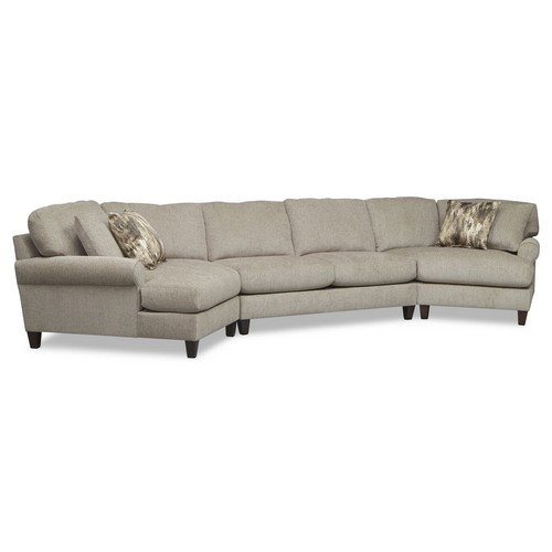 Karma Mink 3 Pc. Sectional with 2 Cuddlers